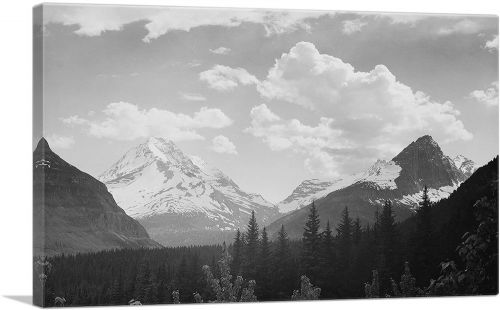 Forest to Mountains and Clouds - Glacier National Park - Montana