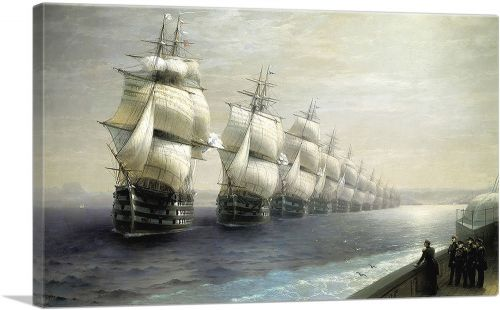 Russian Black Sea Fleet on a Parade 1849
