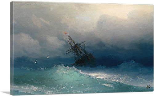 Ship in the Stormy Sea 1858