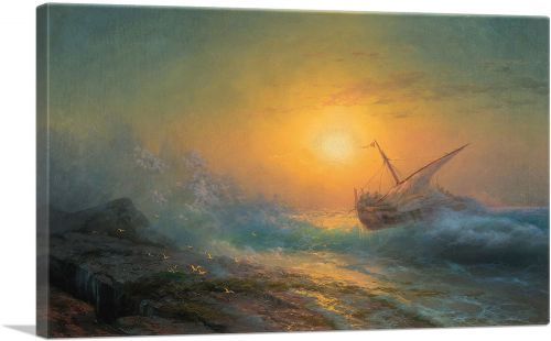 Stormy Sea at Sunset 1896