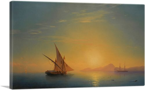 Sunset Over Ischia 1857