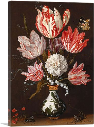 Tulips with Butterfly