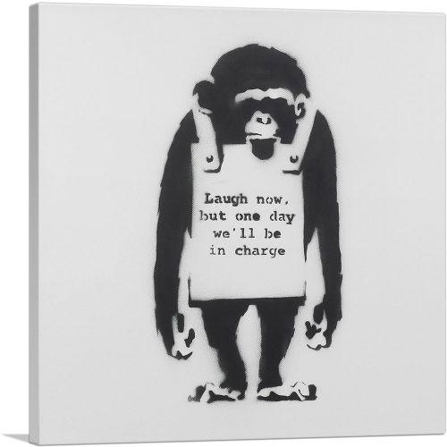 Laugh Now Sandwich Board Wearing Monkey
