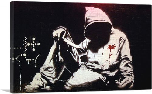 Hooded Man With Knife