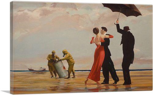Dancing Butler on Toxic Beach Crude Oil