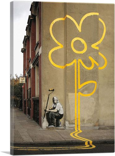 Yellow Lines Flower Painter