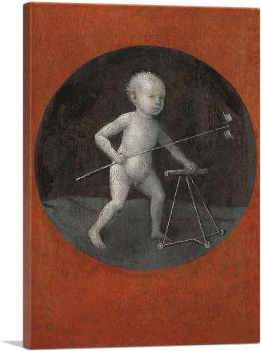 Child with Pinwheel and Toddler's Chair 1500