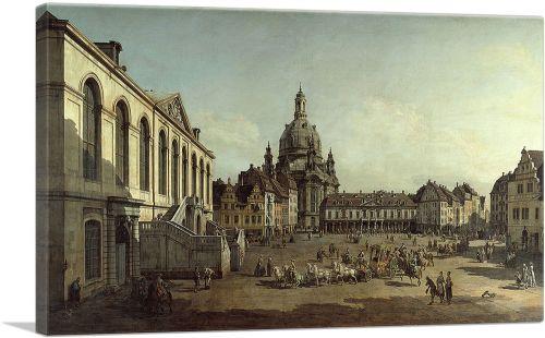 The Neumarkt in Dresden Seen from the Juedenhofe 1749