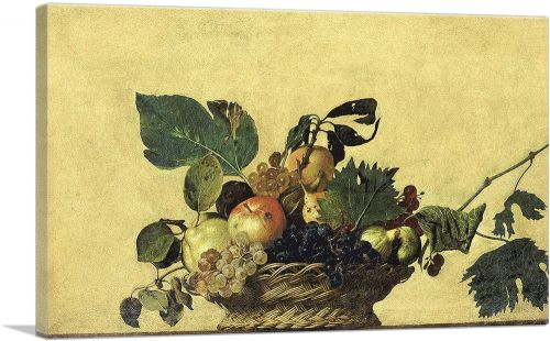 Basket with Fruit 1596