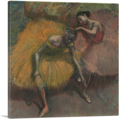 Two Dancers Yellow and Pink 1898