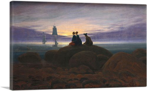 Moonrise Over the Sea 1822