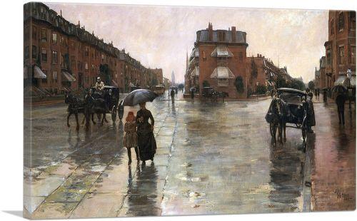 Rainy Day - Boston 1885