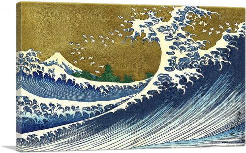 A Colored Version Of The Big Wave