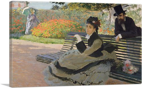 Camille Monet on a Bench