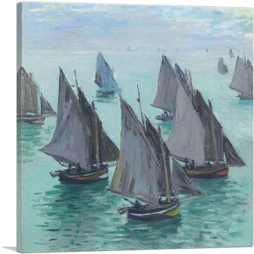 Fishing Boats Calm Sea 1868