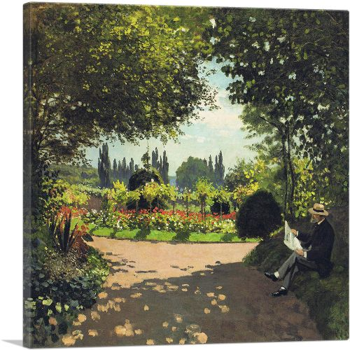Adolphe Monet in the Garden of Le Coteau at Sainte-Adresse