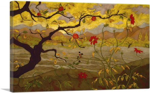 Landscape painting Apple Tree With Red Fruit 1902