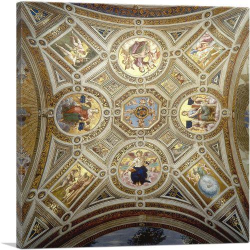 Ceiling Done by Raphael - Stanza della Segnatura