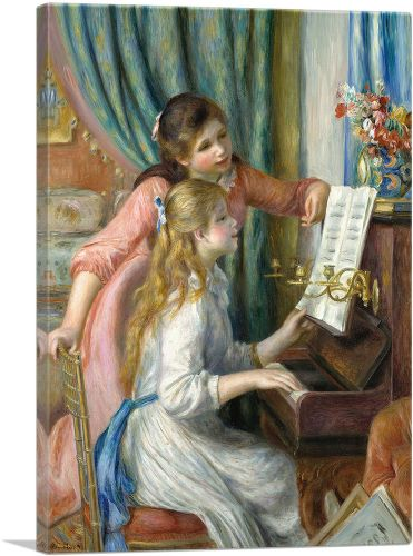 Two Young Girls at the Piano 1892