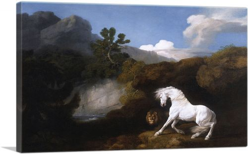 Horse Frightened by a Lion 1770