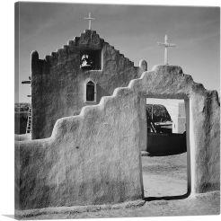 Church Gate - Taos Pueblo National Historic Landmark - New Mexico-1-Panel-26x26x.75 Thick