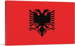 Flag of Albania Country in the Balkans Rectangle-1-Panel-40x26x1.5 Thick