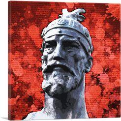 Skanderbeg - George Castriot Albania Bust National Anthem Red