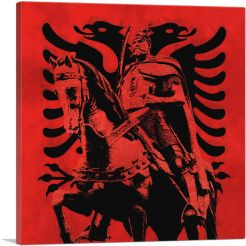 Skanderbeg Black and Red with Two-Headed Eagle Albania