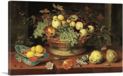 Still Life with Basket of Fruit 1622
