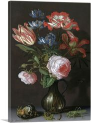 Flowers with Grasshopper 1630