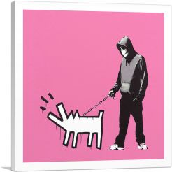 Choose Your Weapon Keith Haring Dog - Pink
