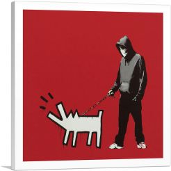 Choose Your Weapon Keith Haring Dog - Red