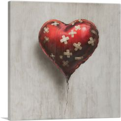 Bandaged Balloon Heart