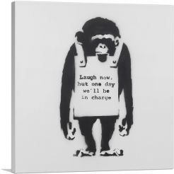 Laugh Now Sandwich Board Wearing Monkey