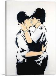 Gay Cops Kissing