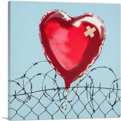 Love Hurts: Barbed Wire Heart Ballon