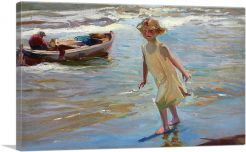 Girl on The Beach 1910