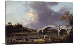 Old Walton Bridge Over The Thames 1754