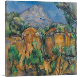 Mont Sainte Victoire Seen from the Bibemus Quarry 1897