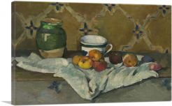 Still Life with Jar, Cup, and Apples 1887