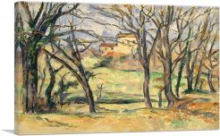 Trees and Houses Near the Jas de Bouffan 1886