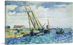 Marine Scene - Boats near Venice 1903