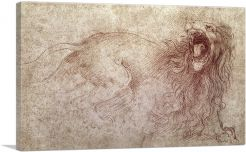 Sketch of a Roaring Lion