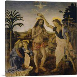 The Baptism of Christ, Andrea del Verrocchio 1475