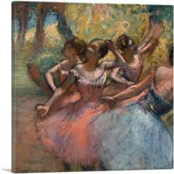 Four Ballet Dancers on Stage 1885