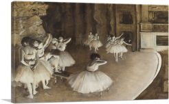 Rehearsal of a Ballet on Stage 1874