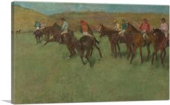 At the Races Before the Start 1885