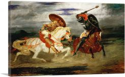Two Knights Jousting in a Landscape 1824