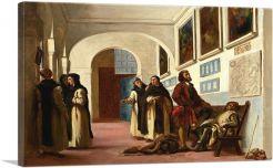 Christopher Columbus and His Son at La Rabida 1838