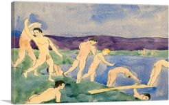 Twelve Nude Boys at the Beach 1914